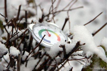 В ближайшие дни температура воздуха в Башкортостане понизится ниже –30 градусов