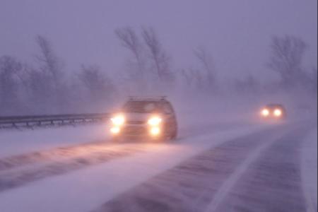 В Башкортостане из-за метели ограничили движение по трассе Р-240 Уфа-Оренбург