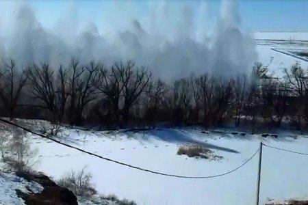 В Башкортостане на реке Таналык взорвали лед