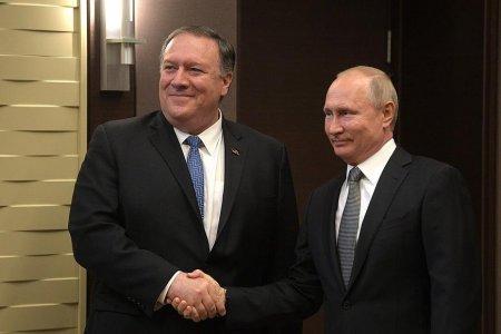 На встрече Владимира Путина и госсекретаря США Майка Помпео тема Украины не поднималась