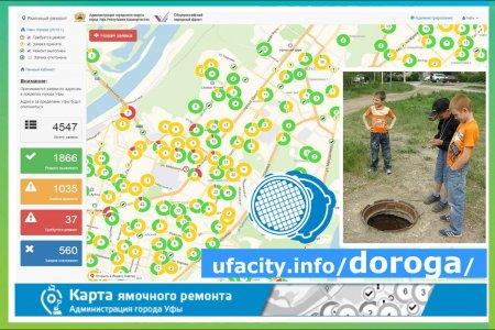 Жители Уфы могут сообщить об открытом колодце с помощью карты ямочного ремонта