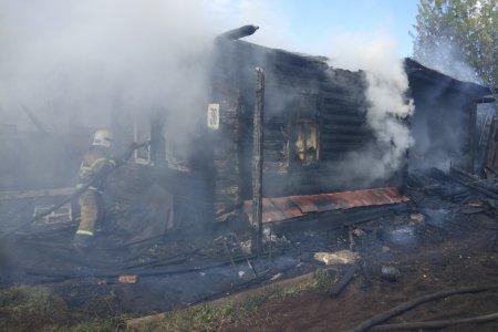 В Башкортостане в сгоревшем доме найдено тело пожилой женщины