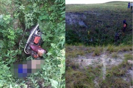 В Башкортостане в овраге нашли мертвого мотоциклиста