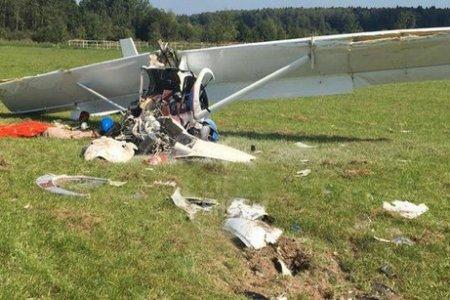 В Подмосковье при крушении легкомоторного самолета погиб пилот