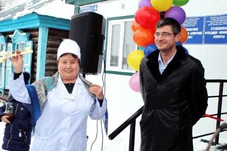 В Аургазинском районе Башкортостана открыли первый модульный ФАП
