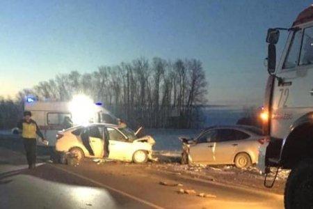 В Башкортостане столкнулись две «Лады Гранты»: один человек погиб, двое пострадали