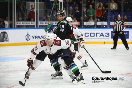 «Салават Юлаев» завершил домашнюю серию разгромной победой над рижским «Динамо» - 5:0