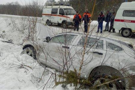 В Белорецком районе Башкортостана автомобиль съехал в кювет, пассажир погиб