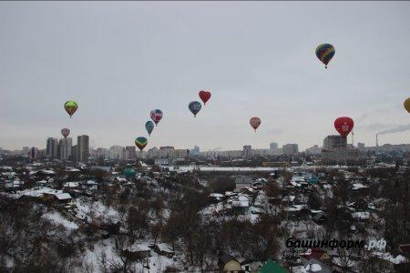 В Башкортостане проходит фестиваль «Самрау», над Уфой летит гроздь воздушных шаров