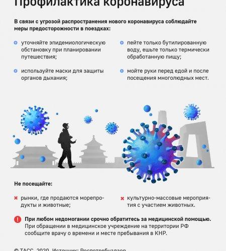 Китайский коронавирус может попасть в Россию в феврале