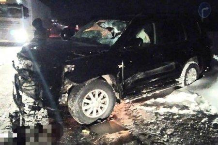 В Башкортостане столкнулись встречные Fiat Doblo и Land Сruiser 200: есть пострадавшие