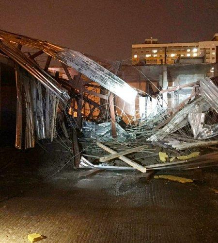 В Уфе рухнули перекрытия в строящемся здании