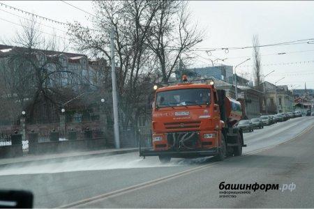 В Уфе ночью продезинфицируют основные магистрали города, движение транспорта закроют