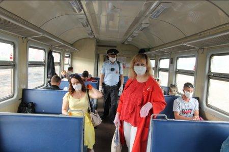 В Уфе состоялся рейд по проверке соблюдения мер по противодействию распространению коронавируса в городских электричках