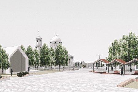 """В Бирске продолжается строительство архитектурно-паркового ансамбля """"Новый центр""""."""