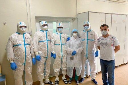 Группа медицинских работников республики, в количестве 42 человек работает в Киргизской Республике